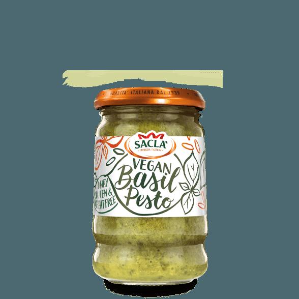 Vegan klassískt basilikupestó með tofu