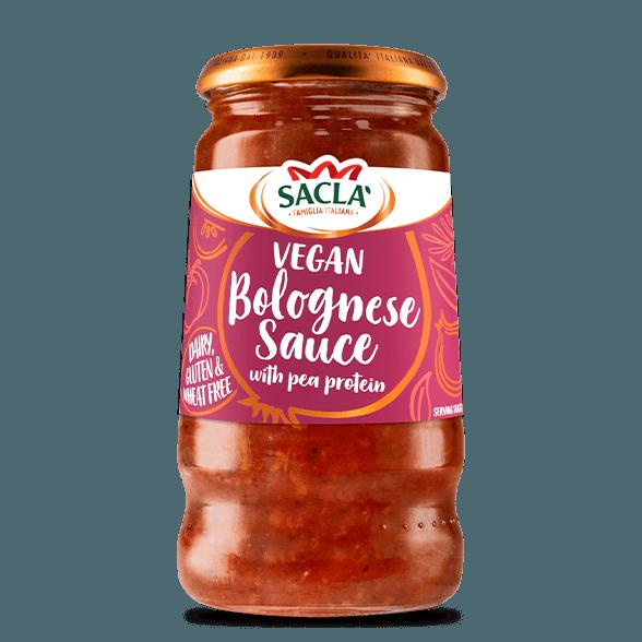 Vegan tómata og baunaprótein pastasósa