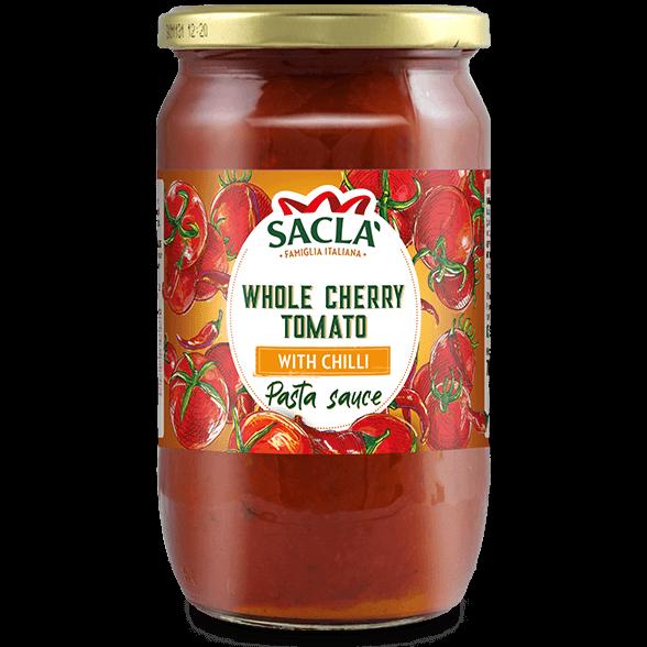 Kirsuberjatómatar og chilli pastasósa (700g)